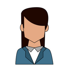 business woman profile avatar vector image