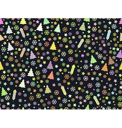 Christmas pattern rocket fireworks vector