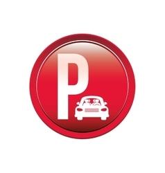 Circular button parking area for vehicles vector