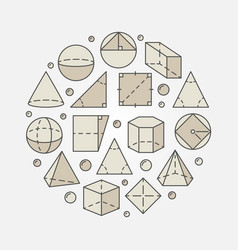 Colorful geometry and mathematics vector
