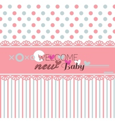 Cute welcome baby shower vector