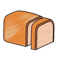 Delicious toast bread icon vector