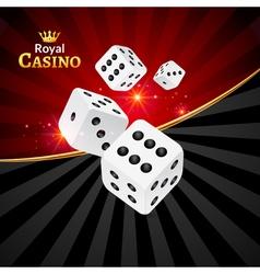Dice casino design background Dice gambling vector image vector image