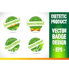 Dietetic product Badge vector image vector image