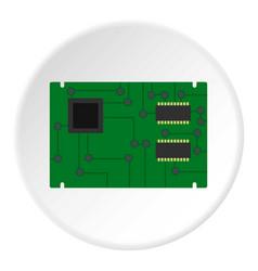 Electronic board icon circle vector