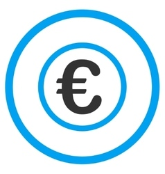 Euro coin rounded icon vector