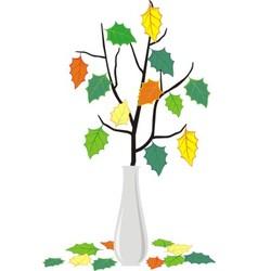 fallen leaves vector image vector image