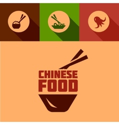 Flat chinese food design vector