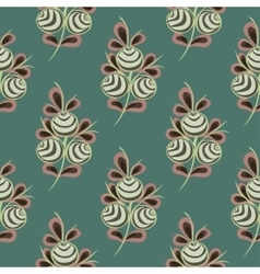 Flower seamless pattern background vector image
