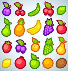 fruits icons full vector image vector image
