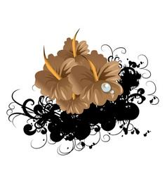 funky flower vector image