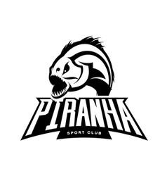 Furious piranha sport mono logo concept vector