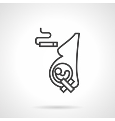 Harm of smoking for pregnancy line icon vector
