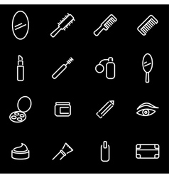 line cosmetics icon set vector image