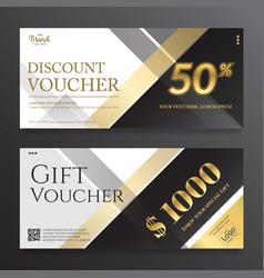 Modern elegance gift card or gift voucher vector