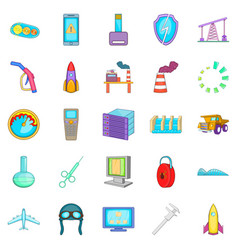 New equipment icons set cartoon style vector
