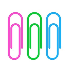 Paperclip icons vector