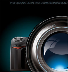 professional digital photo camera background vector image vector image