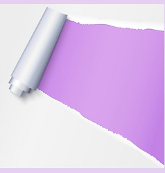 realistic torn open paper with space for text on vector image vector image