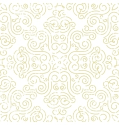 Seamless vintage wallpaper Abstract gold vector image