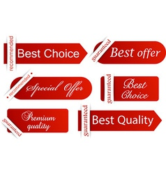 Set of red flat banners vector image vector image
