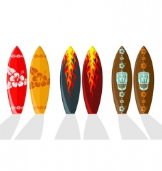 set of vector surf boards vector image
