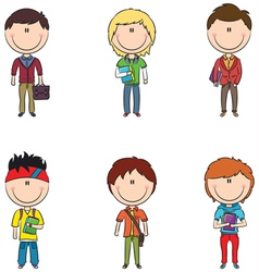 Smart students vector image