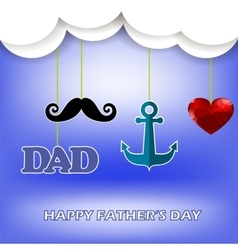 Super dad poster happy fathers day vector