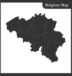 the detailed map of the belgium with regions vector image vector image