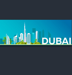 travel banner to dubai flat vector image