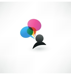 abstract talking bubble vector image