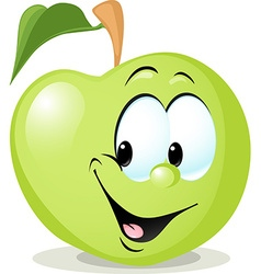 Cute apple character - isolated on white bac vector