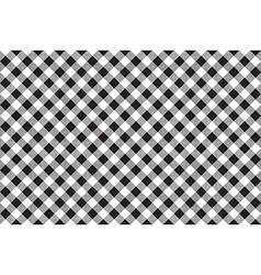 Black white checkerboard check diagonal seamless vector image