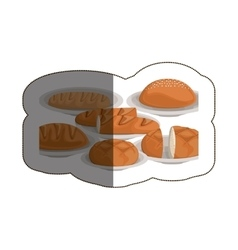 Isolated bread and baguette design vector