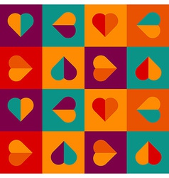 Colorful love pattern with hearts vector image