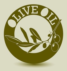 Olive lable vector