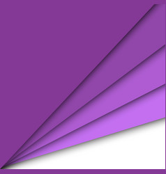 Purple paper overlapping abstract background vector
