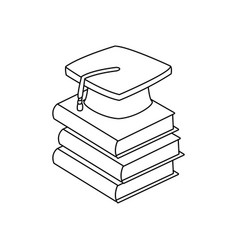 back to school book graduation cap vector image