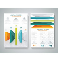 Brochure template design with 3d elements vector