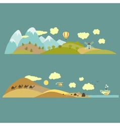 Natural landscapes vector