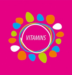 Logo abstract colored vitamins vector