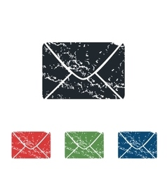 Letter grunge icon set vector