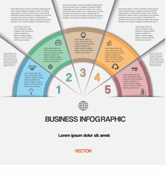 Business infographic for success project vector