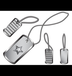 dog tag set vector image