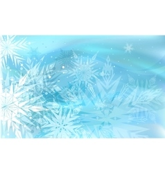 Beautiful blue winter background vector