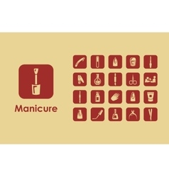 Set of manicure simple icons vector