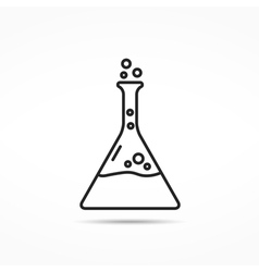 Chemistry line icon vector
