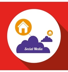 Social media design media icon communication vector