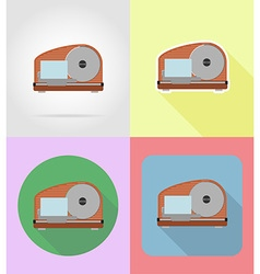 Household appliances for kitchen 01 vector