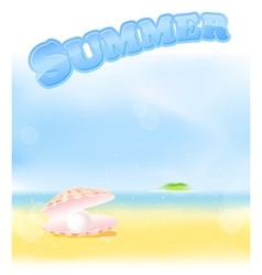 summer pink pearl vector image